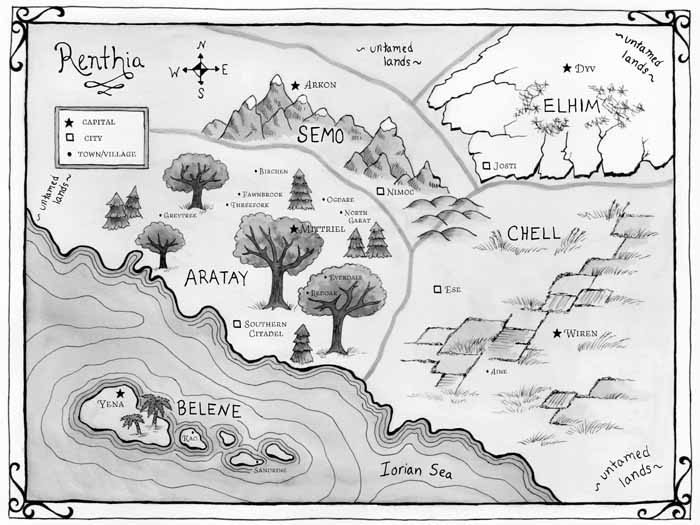 Queen of Blood map — Harper Collins